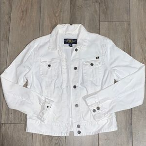 [Lucky Brand] White Jean Button Up Jacket (Small)